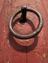 Iron ring use to door Royalty Free Stock Photos