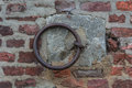 Iron ring on a wall used earlier fasten the horses Stock Image