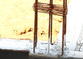 Iron rod armature for construction Royalty Free Stock Photo