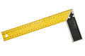 Iron ruler with angle bar Royalty Free Stock Photo