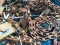 Iron Scrap. Royalty Free Stock Photo