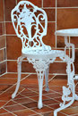Iron table and chair in carving Stock Images