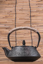 Iron teapot is widely used in china during the tang dynasty at the same time introduced to japan japan will use this china tea set Royalty Free Stock Images