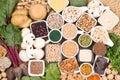 Iron in vegan diet. Food sources of vegan iron Royalty Free Stock Photo