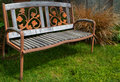 Iron and Wood bench Royalty Free Stock Images