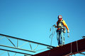 Picture : Iron Worker Walks a Beam vintage bright