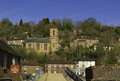 Ironbridge with River Severn Shropshire Royalty Free Stock Photo