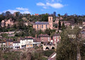 Ironbridge town and church. Royalty Free Stock Photo