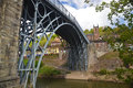 Ironbridge view across the river severn with the in shropshire uk Royalty Free Stock Photo
