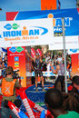 Ironman triathlon winner Royalty Free Stock Photography