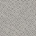 Irregular Maze Line. Abstract Geometric Background Design. Vector Seamless Black and White Pattern. Royalty Free Stock Photo