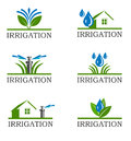 Irrigation icons an illustration of Royalty Free Stock Image
