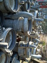 Irrigation pipes Stock Photography
