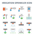 Irrigation sprinkler icon