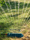 Irrigation water sprinkler Royalty Free Stock Photo