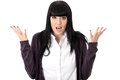 Irritated Angry Fed Up Exasperated Woman Royalty Free Stock Photo