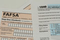 IRS and FAFSA tax forms Royalty Free Stock Photo