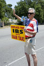 Irs protest pensacola fl may protesters rally in front of local office in pnesacola fl on may in response to news that Royalty Free Stock Photo