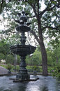 Irvine park fountain of square in saint paul minnesota Stock Photo