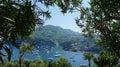 Ischia from aragonese castle view of island Stock Photos