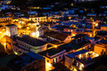 Ischia nights the rooftops of a town in Royalty Free Stock Images