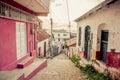Isla de flores guatemala island central america picturesque streets in Stock Photos
