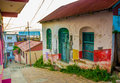 Isla de flores guatemala island central america picturesque streets in Royalty Free Stock Photography