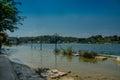 Isla de flores island guatemala central america flooded esplanade Stock Image