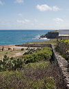 Isla mujeres island of the women acantilado amanecer cliff of the dawn punta sur south point looking across small mexican at Royalty Free Stock Photo