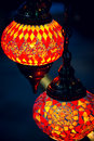 Islam and arabic lantern lamp at souk in muscat oman Royalty Free Stock Image