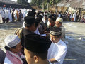Islam in indonesia muslims gather after the prayer of eid el fitri banjarnegara java is the dominant religion which Royalty Free Stock Images