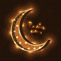 Islam Ramadan moon bright effect Royalty Free Stock Photo