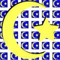 Islam symbol on artistic texture