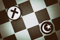 Islam vs Christianity Royalty Free Stock Photo