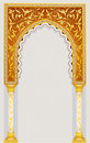 Islamic art arch high detailed design in vector illustration Stock Photo