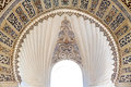 Islamic art decorated arch window Royalty Free Stock Photo