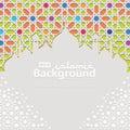 Islamic Background template for ramadan kareem, Ed Mubarak with islamic ornament