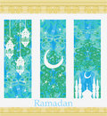 Islamic banners set ramadan card Stock Image