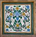 Historical islamic decoration on white