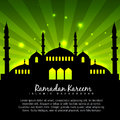 Islamic design with green background vector Stock Photo