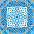 Islamic geometric ornaments based on traditional arabic art. Oriental seamless pattern. Muslim mosaic. Mosque decoration Royalty Free Stock Photo