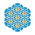 Islamic geometric pattern. Vector 3D muslim mosaic, persian motif. Elegant oriental ornament, traditional arabic art Royalty Free Stock Photo