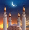 Islamic greeting Eid Mubarak cards for Muslim Holidays.Eid-Ul-A