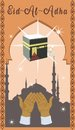 Islamic holiday of sacrifice of Eid-al-Adha. Vector illustration
