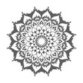 Islamic mandala. Eastern decoration on white vector.