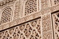 Islamic (Moorish) Art carved Stock Photo