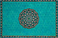 Islamic mosaic with blue tiles Royalty Free Stock Photos
