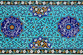 Islamic mosaic with blue tiles Royalty Free Stock Photo
