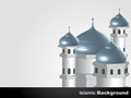 Islamic mosque background vector design Stock Images