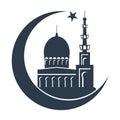Islamic mosque black silhouette